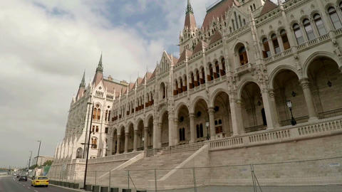 Hungarian Parliament in Budapest Footage