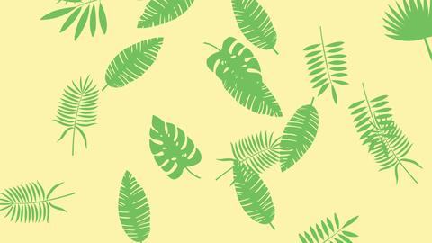 [alt video] Tropical leaf minimal motion design animation