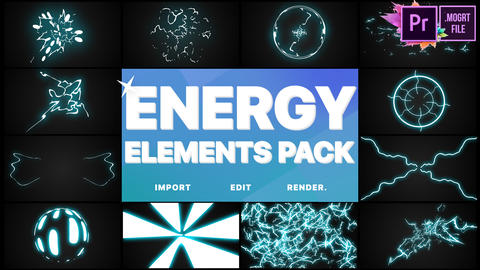 Energy Elements Pack Motion Graphics Template