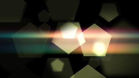 Smooth pentagons animation background on the dark Animation