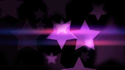 Beautiful bokeh effect in star shaped Animation