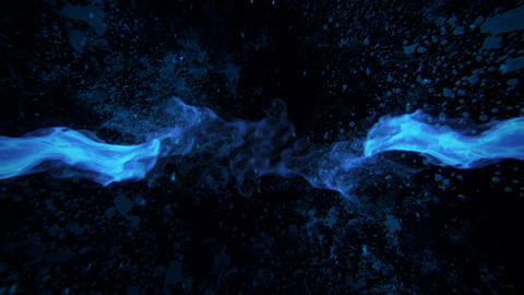 Blue Fire Flames Intro Logo Motion Graphic Background Animation