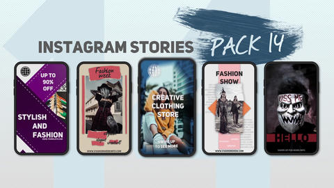 Instagram Stories Pack 14 After Effectsテンプレート
