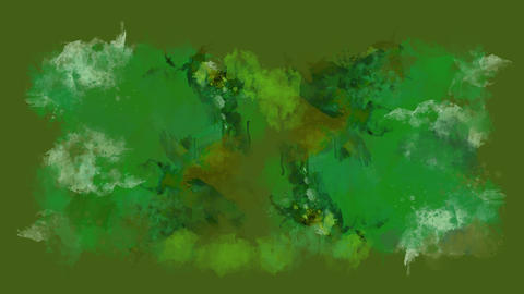 Green and brown watercolor blot appears on the alpha channel Animation