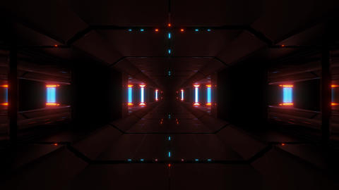 dark clean sci-fi space tunnel corridor 3d rendering background wallpaper motion Animation