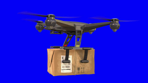Delivery by Quadcopter Animation