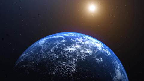Realistic Planet Earth, world from space. Detailed home, rotating horizon with beautiful Videos animados
