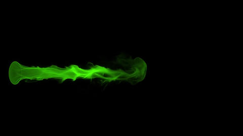 Green Fire Flame Element Overlay Motion Graphic Animation
