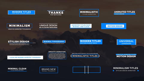 20 Animated Titles IV Motion Graphics Template