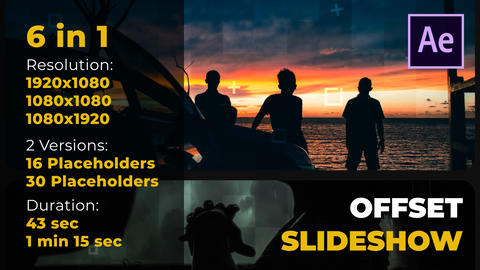 Offset Slideshow After Effects Template