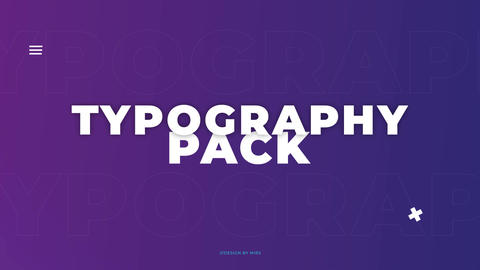Typo Scenes After Effects Template