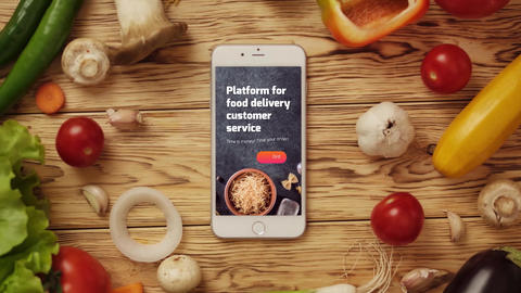 Food App Logo Reveal After Effects Template