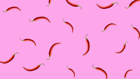 Minimal motion design Chili pepper animation Animation