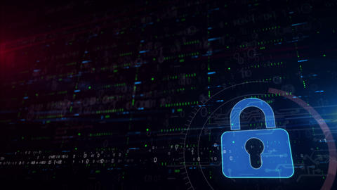Cyber security lower thirds background Animation