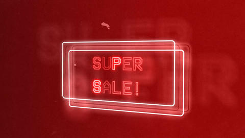 Sale! Retro Neon Lights Animation Animation