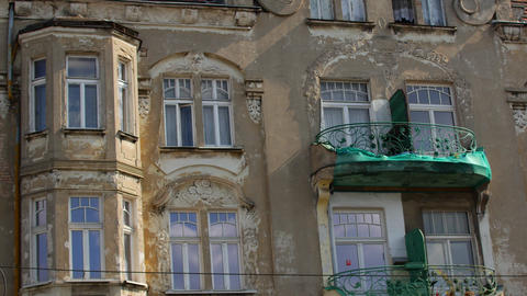 Houses in historical areas of Polish cities Live Action