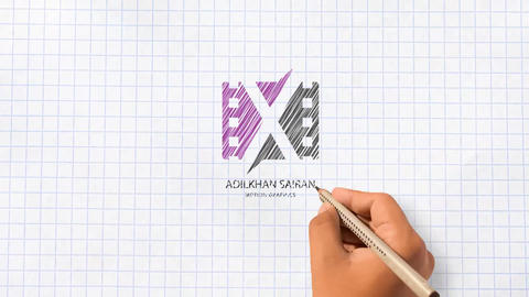 Hand Drawn Logo Reveal After Effects Template