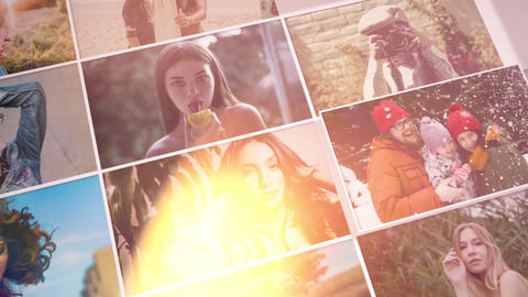 Intro mosaic gallery After Effects Template