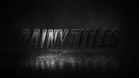 Rainy Titles Motion Graphics Template