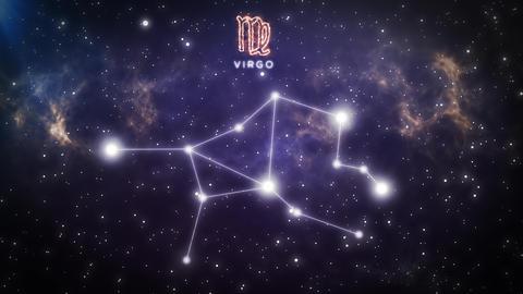 Zodiac constellation of VIRGO 4K Animation