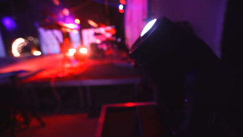 Lighting equipment for clubs and concert halls Footage