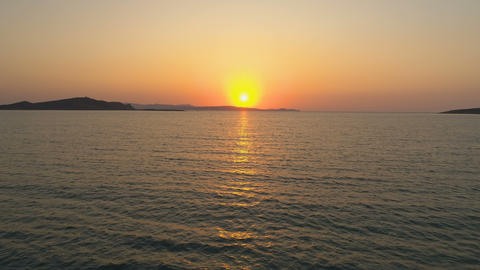 Beautiful Dawn. Sunrise Over The Sea Horizon Footage