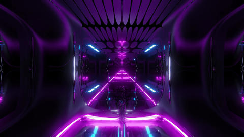 glowing futuristic horror sci-fi temple with nice reflection 3d illustration Animation