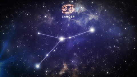 Zodiac constellation of CANCER 4k Stock Video Footage