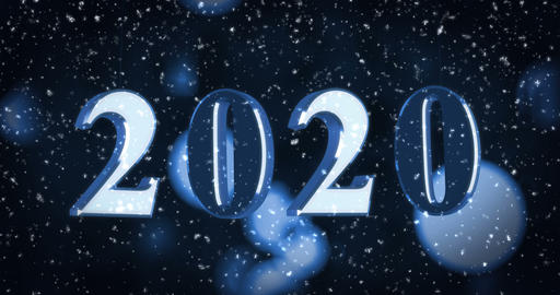 New year numbers with glowing background Animation