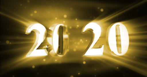 New year 2020 with shine Animation