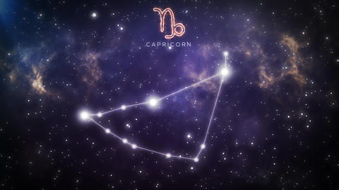 Zodiac constellation of CAPRICORN 4k Animation