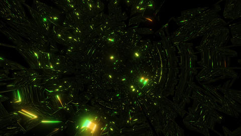 highly abstract green glowing design background wallpaper 3d illustration Animation