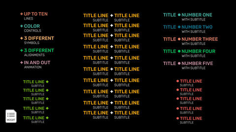 Multiple Text Lines (4K and HD version included) Motion Graphics Template