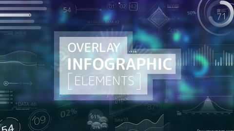 Overlay Infographic Elements After Effects Template
