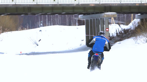 Winter motorcycle race Live Action