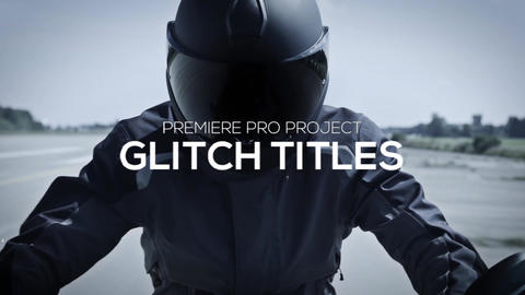 Glitch Titles Premiere Pro Template