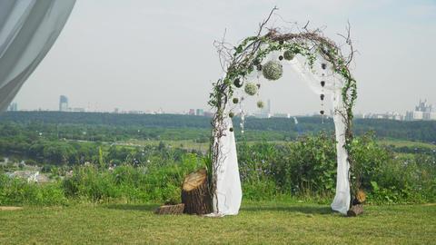 Wedding ceremony arch Live Action