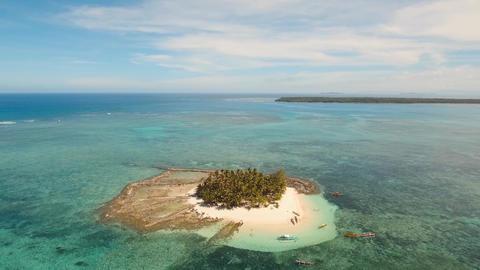 Beautiful tropical island with beach. Guyam island, Philippines Footage