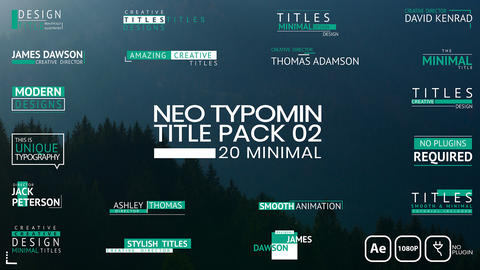 Neo Typomin Title Pack 02 After Effects Template