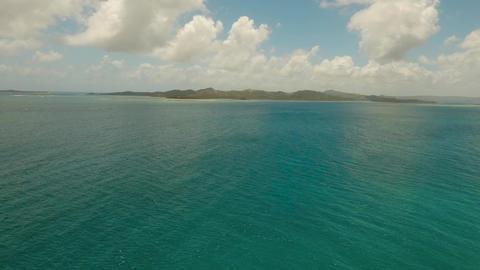 Coast of tropical island Live Action