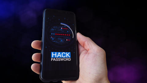 Password guessing. Hacking access. Phone hacker. Alpha Matte. Denied Animation