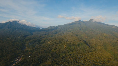 Mountains with tropical forest. Camiguin island Philippines Live Action