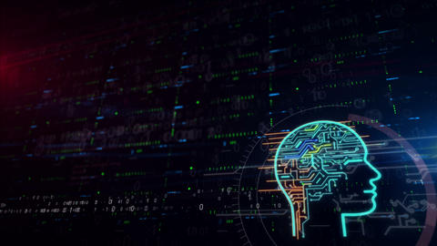 Cybernetic brain lower thirds background Animation