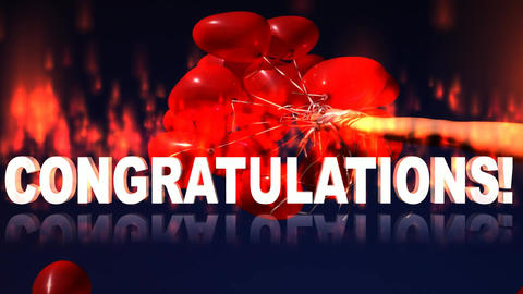 16 Animated greeting with the word 'Congratulation' Animation