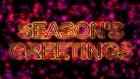 17 Animated greeting with the word Season's greetings Animation