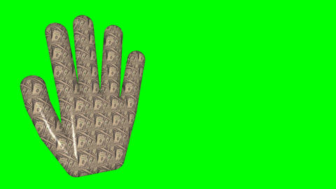 18 Animated hands which shows thumbs up and down on green screen Animation