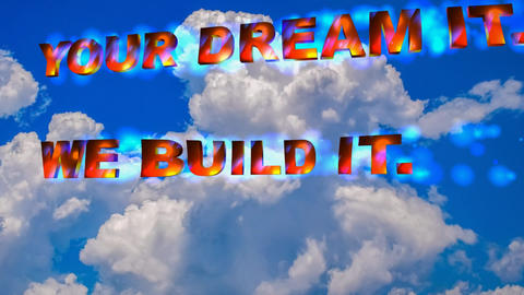 59 Animated template slogan 'your dream it we bulit it Animation