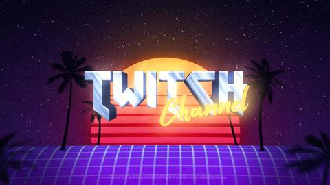 Retro Wave Logo Premiere Pro Template
