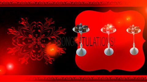 60 Animated template Wedding congratulation Animation