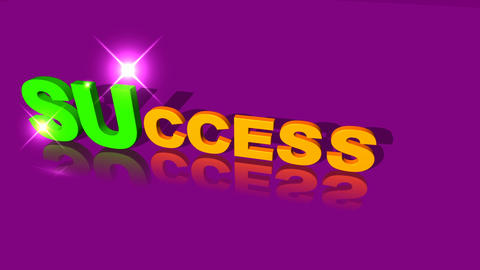 64 Animated template with the word SUCCESS Animation